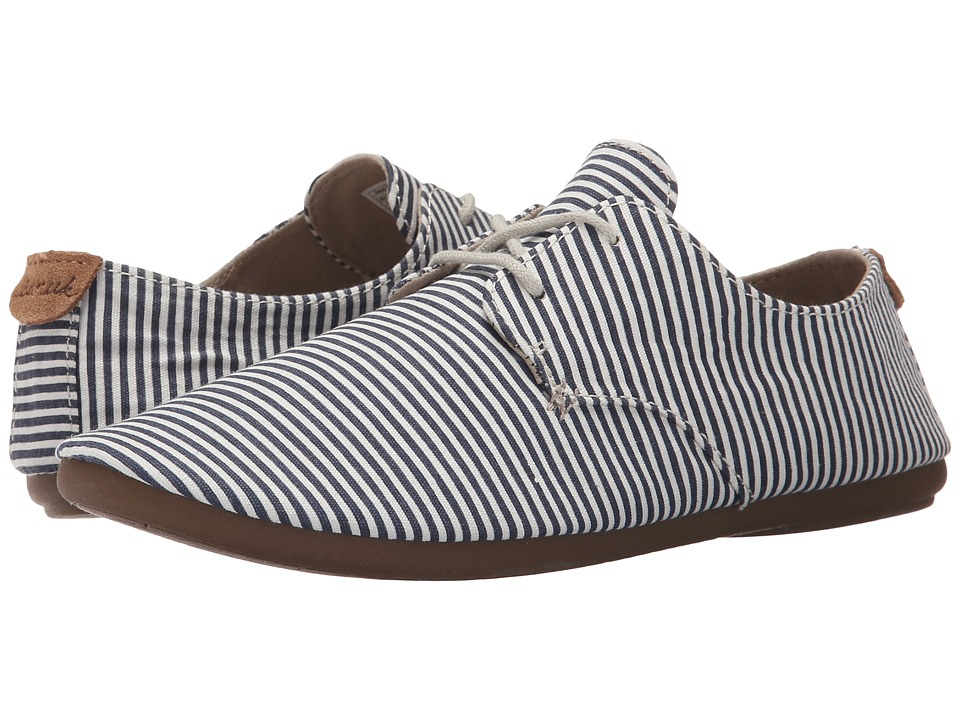 Sanuk - Bianca Prints (Slate Blue/White Stripes) Women's Slip on Shoes