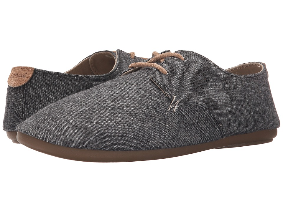 Sanuk - Bianca TX (Black Chambray) Women's Slip on Shoes