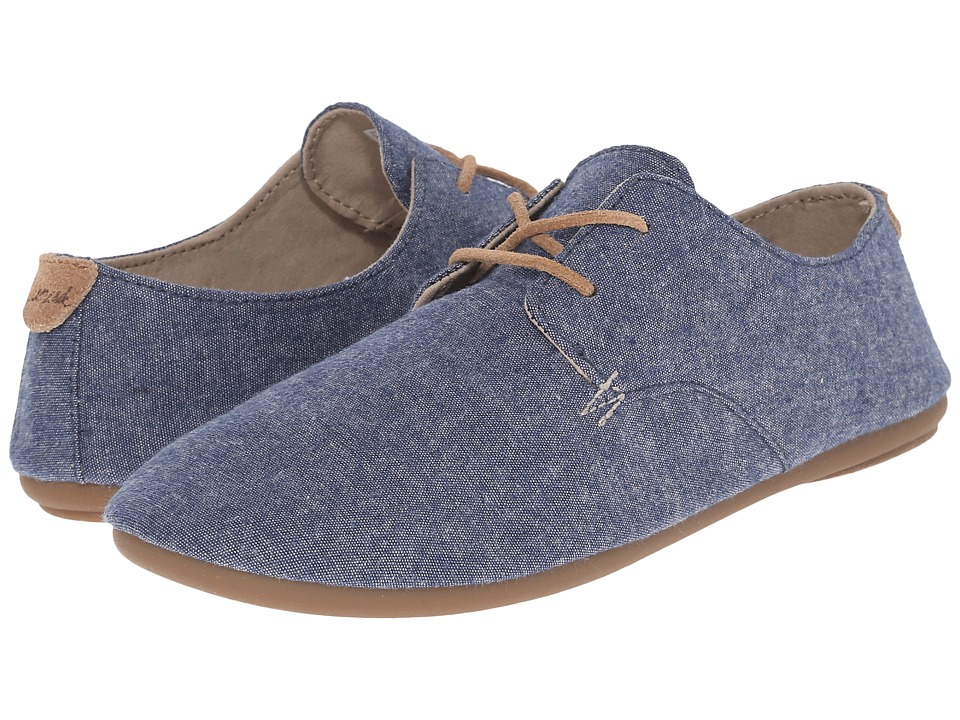 Sanuk - Bianca TX (Slate Blue Chambray) Women's Slip on Shoes
