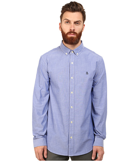 Original Penguin - Core Oxford Long Sleeve Shirt (Royal Blue) Men's Long Sleeve Button Up