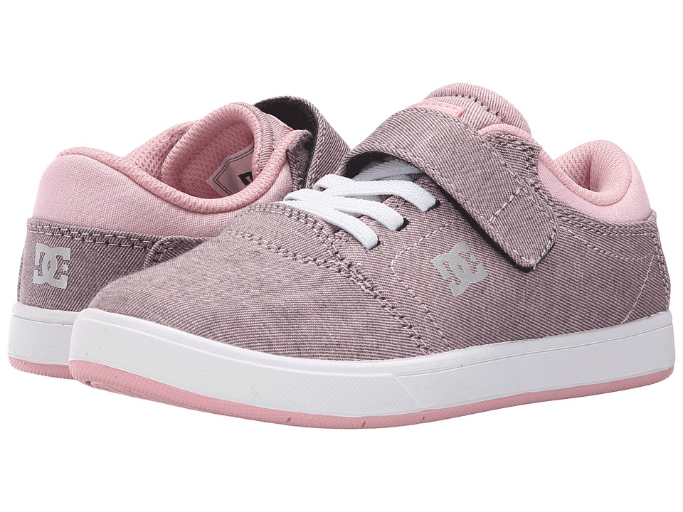DC Kids - Crisis EV TX SE (Little Kid) (Pink/White) Girls Shoes