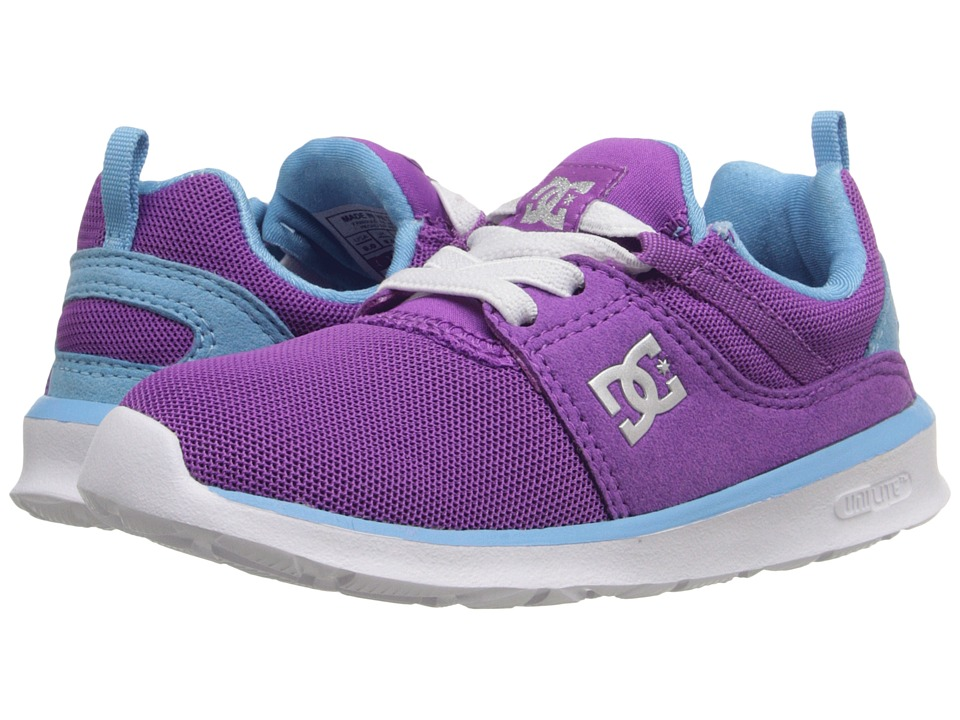 DC Kids - Heathrow (Toddler) (Purple) Girls Shoes