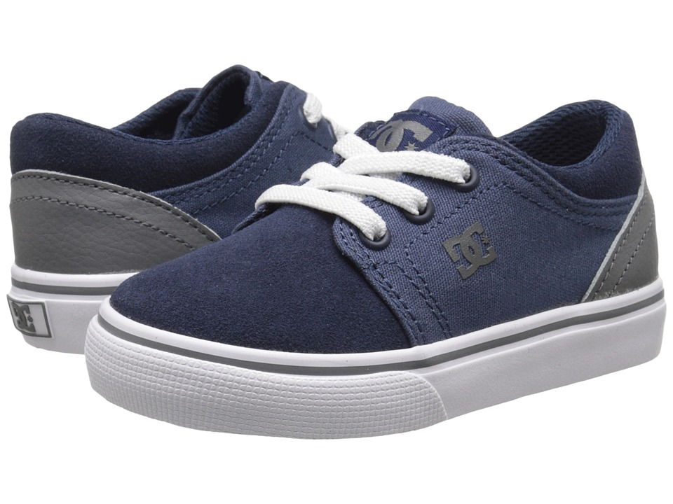 DC Kids - Trase Slip (Toddler) (Navy/Grey) Girls Shoes