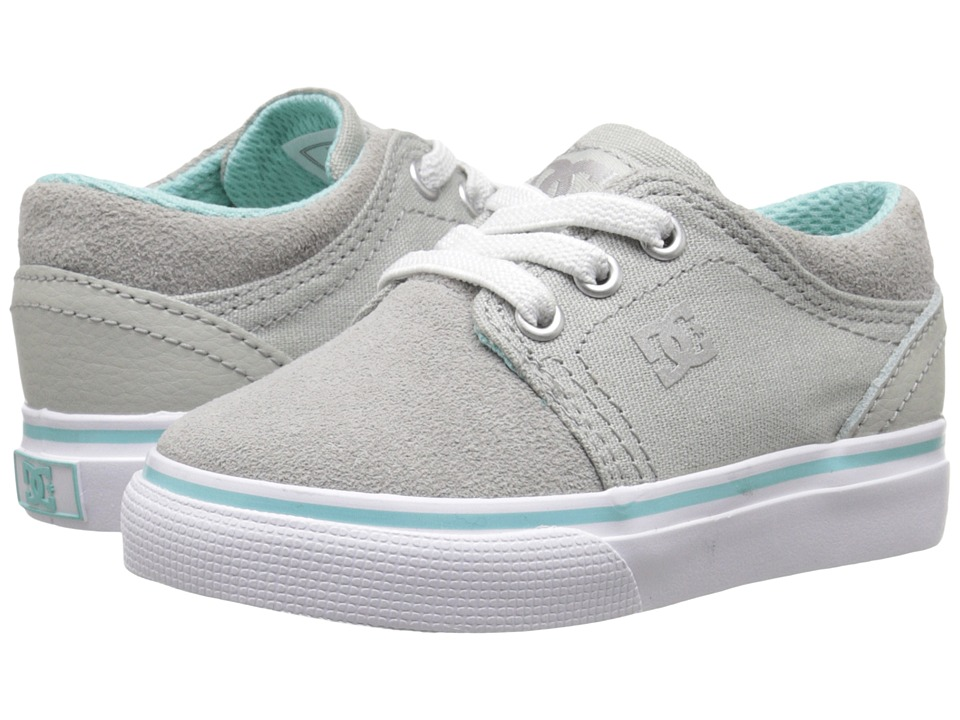 DC Kids - Trase Slip (Toddler) (Light Grey) Girls Shoes