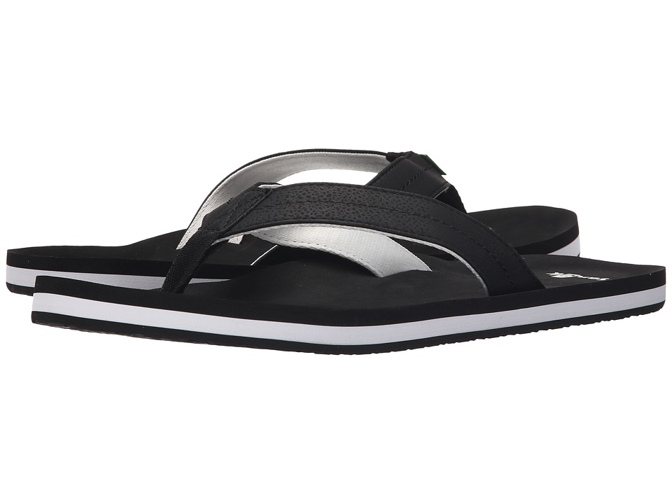 Sanuk - Burm (Black/White) Men's Sandals