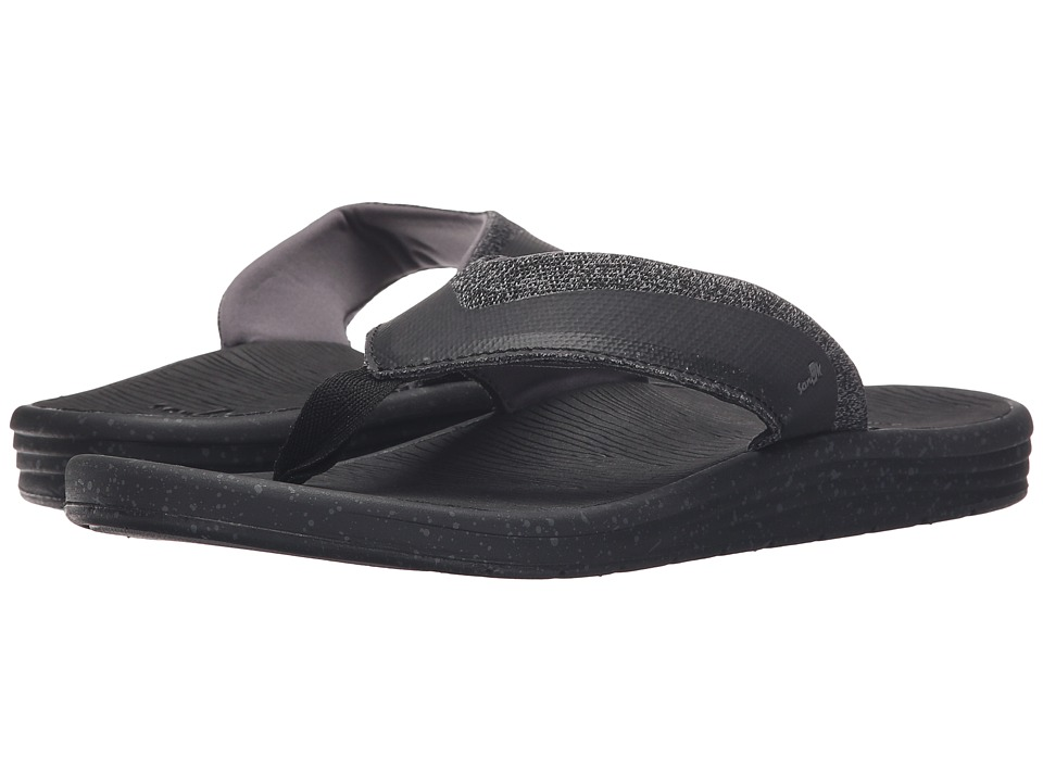 Sanuk - Compass (Black/Charcoal) Men's Sandals