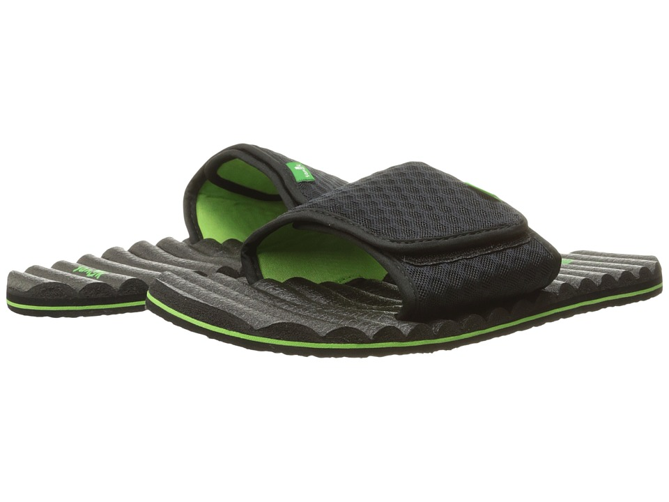 Sanuk - Beer Cozy Hops Slide (Black Lime/Honeycomb) Men