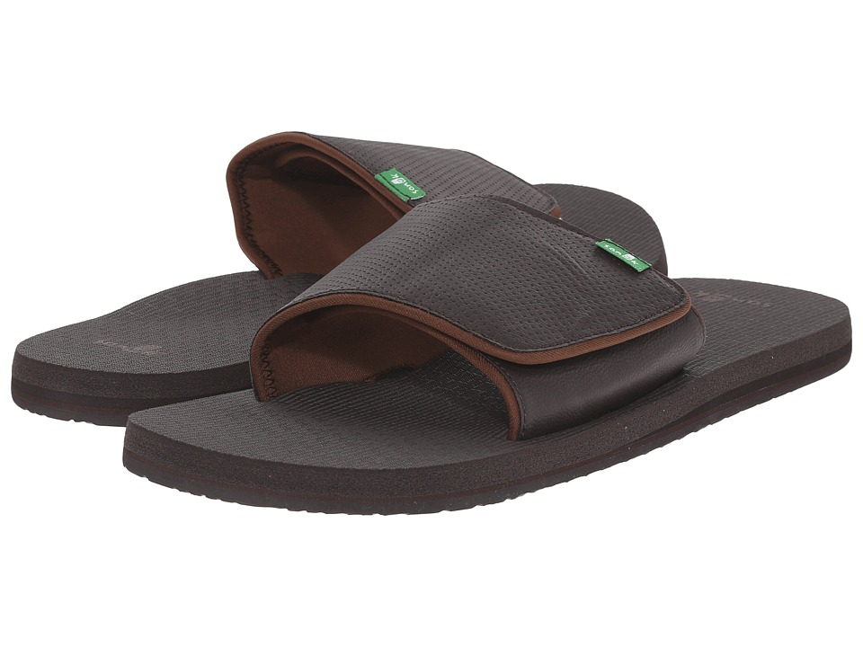 Sanuk - Beer Cozy Light Slide (Brown) Men's Slide Shoes