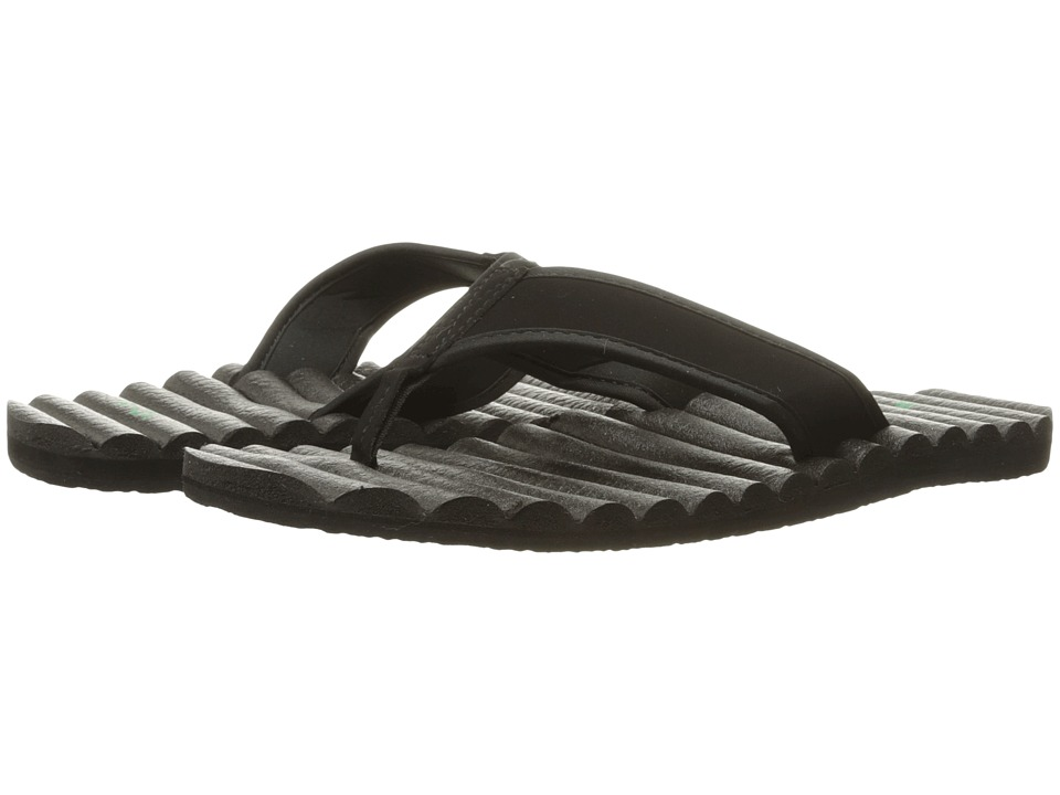 Sanuk - Beer Cozy Hop Top (Black) Men's Sandals