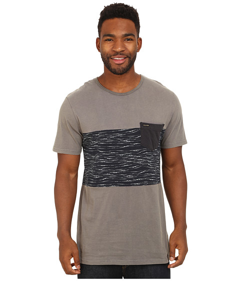 Volcom - Grizzle Short Sleeve Crew (Dark Grey) Men