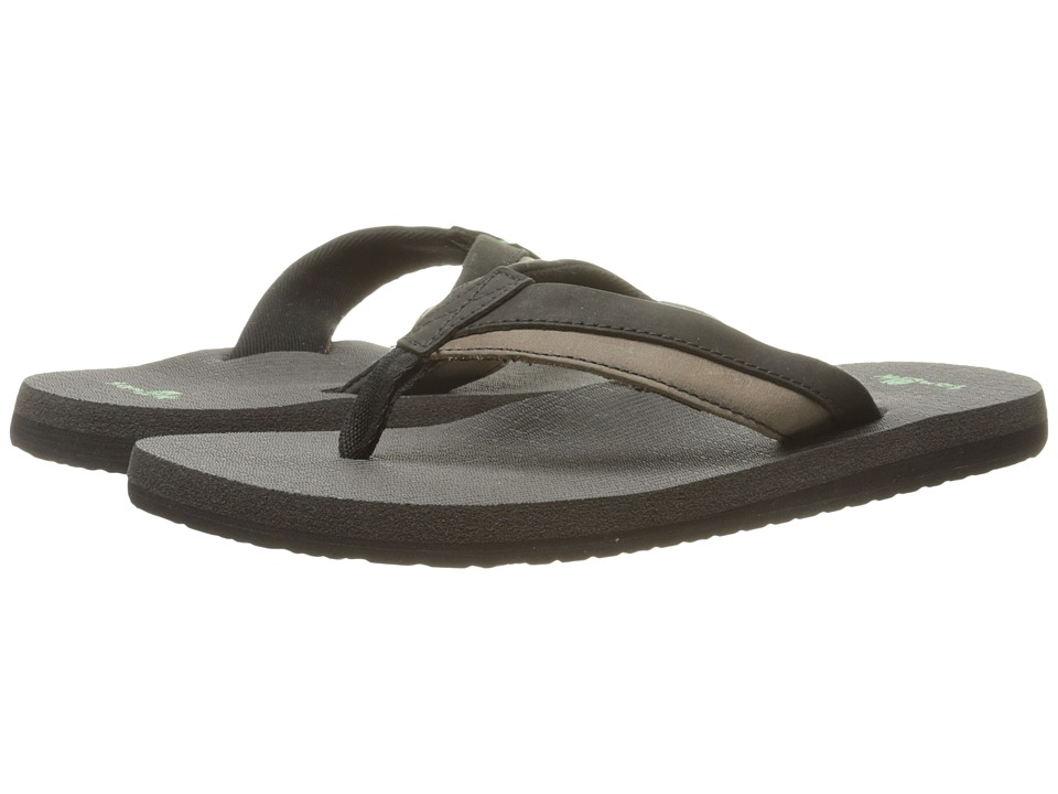 Sanuk - Beer Cozy Primo Light (Black/Charcoal) Men's Sandals