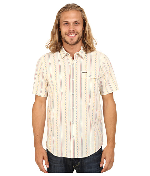 Volcom - Chinchester Short Sleeve Woven (Old Grey) Men's Clothing
