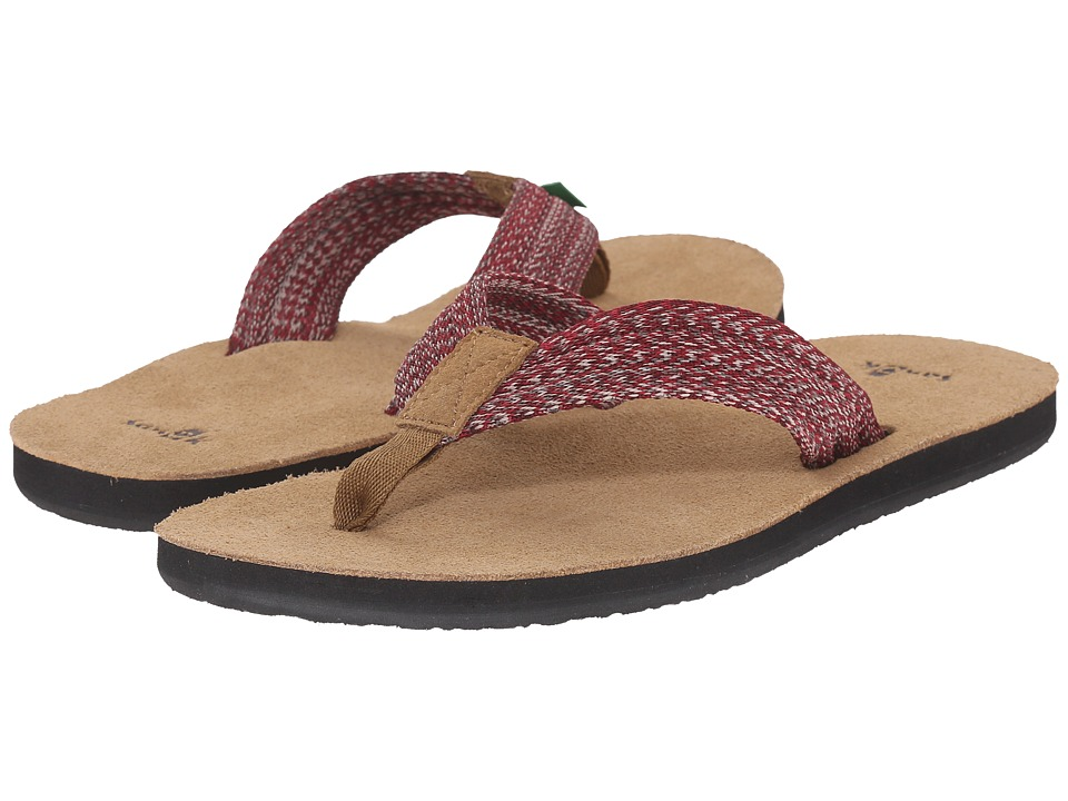 Sanuk - Fraid Webbing (Multi Red) Men's Sandals