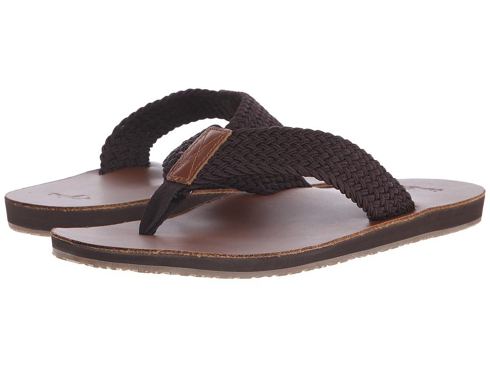 Sanuk - John Doe Braided (Brown) Men's Sandals