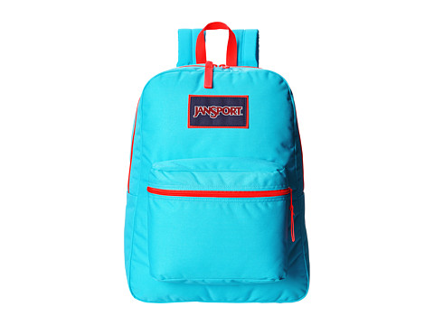 JanSport - Overexposed (Mammoth Blue/Red) Backpack Bags