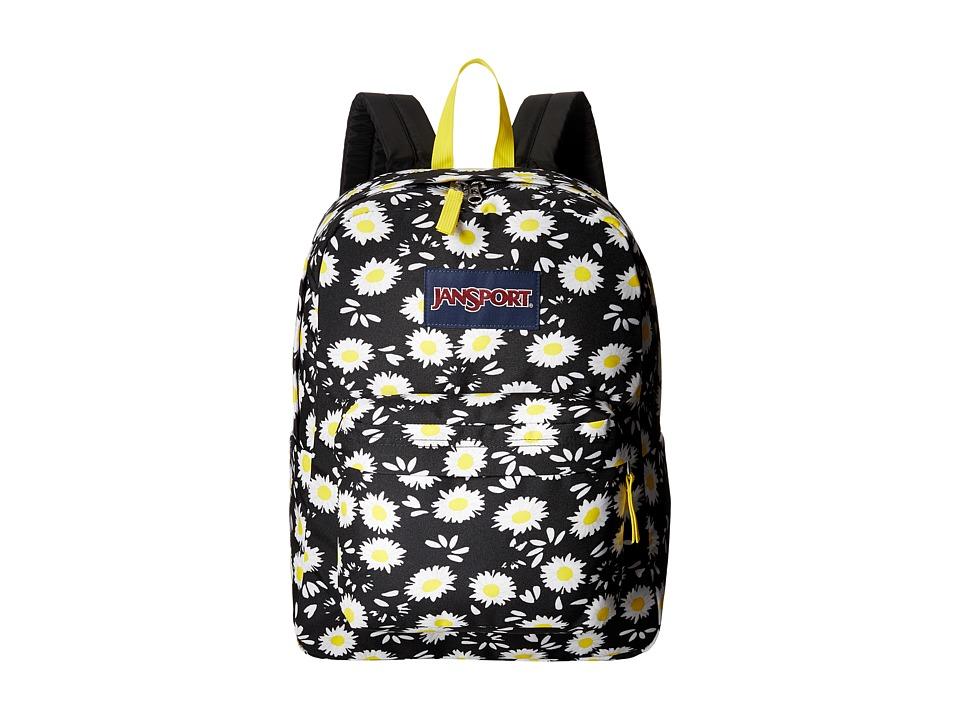 JanSport - SuperBreak (Black Lucky Daisy) Backpack Bags