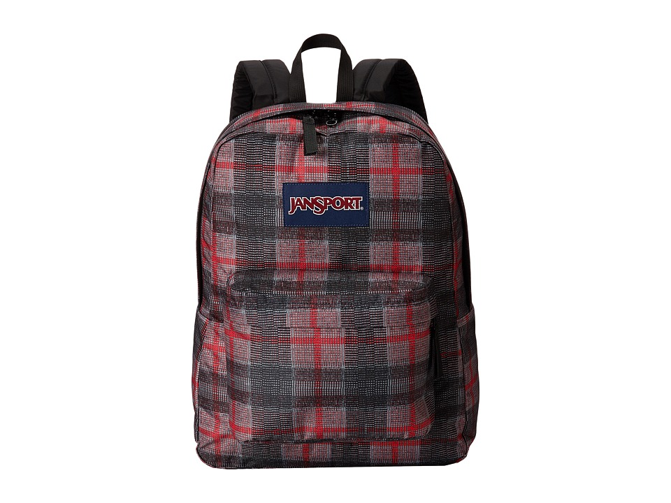 JanSport - SuperBreak (Red Tape Plaid) Backpack Bags