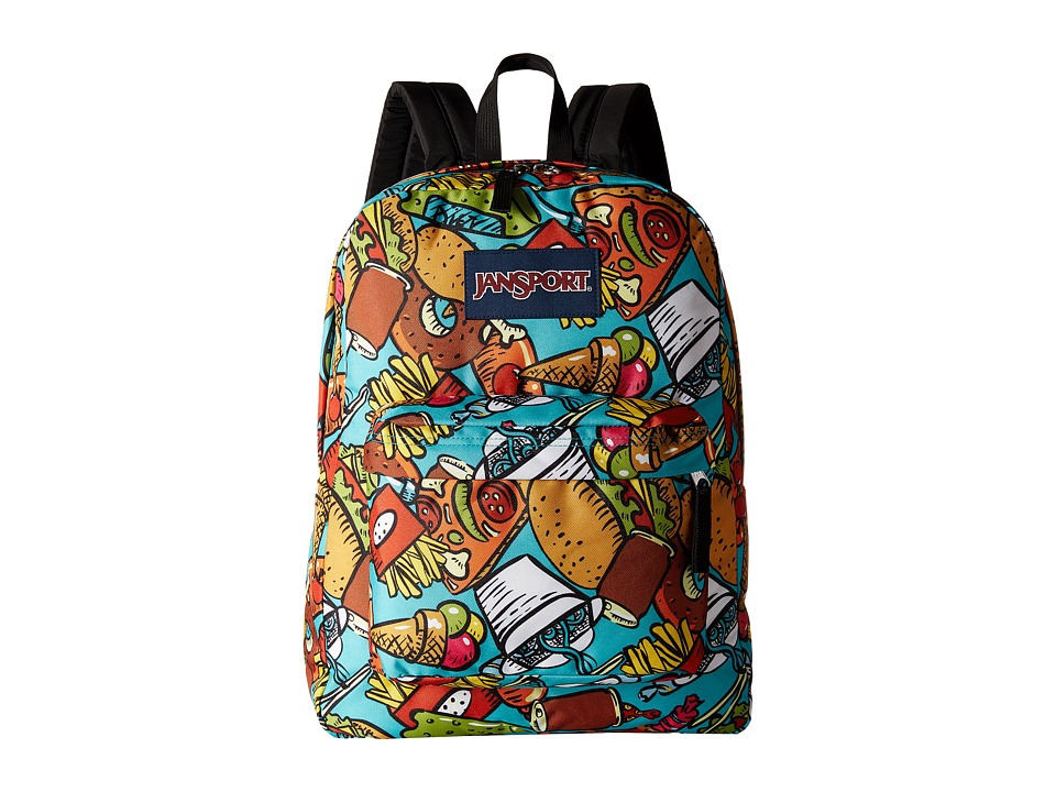 JanSport - SuperBreak (Multi Junk Food) Backpack Bags