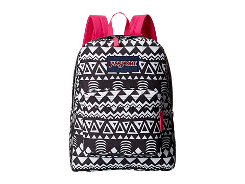 JanSport - SuperBreak (Black Geo Graphic) Backpack Bags