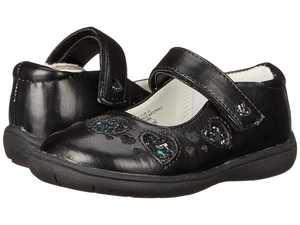 Nina Kids - Addie (Toddler/Little Kid) (Black Pebbled Pearlized) Girls Shoes