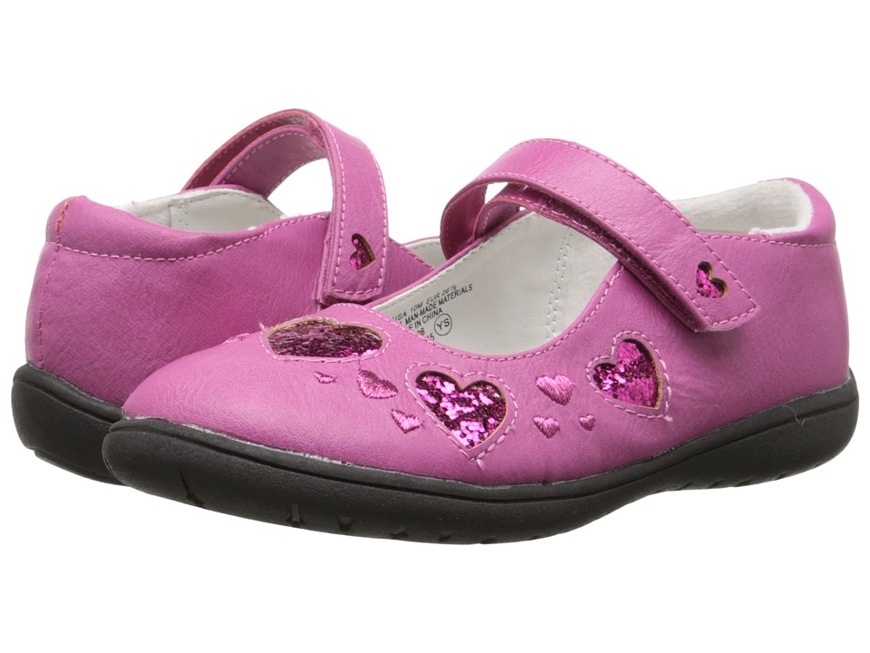 Nina Kids - Addie (Toddler/Little Kid) (Fuchsia Pebbled Pearlized) Girls Shoes