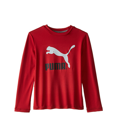 Puma Kids - Core Long Sleeve Logo Tee (Toddler) (Scooter) Boy's T Shirt
