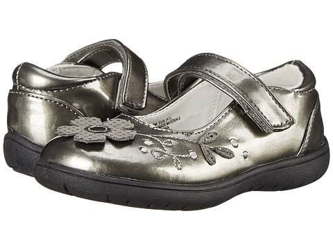 Nina Kids - Agatha (Toddler/Little Kid) (Pewter Patent) Girl's Shoes