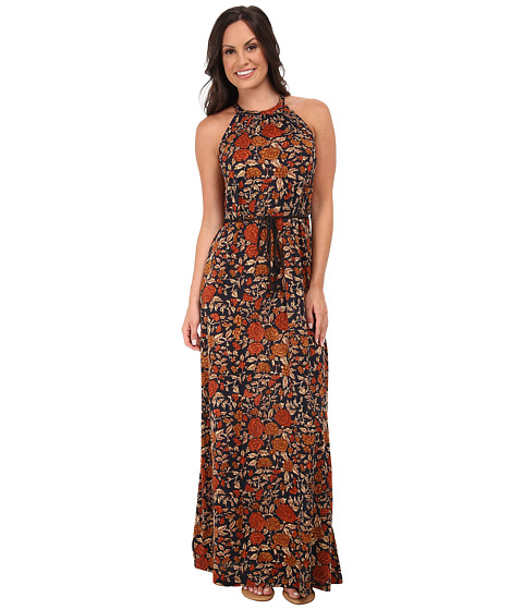 Lucky Brand - Vintage Floral Maxi Dress (Brown Multi) Women's Dress