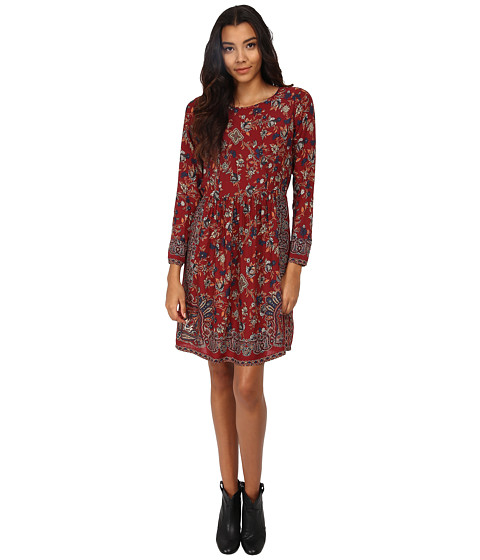 Lucky Brand - Vintage Floral Dress (Red Multi) Women