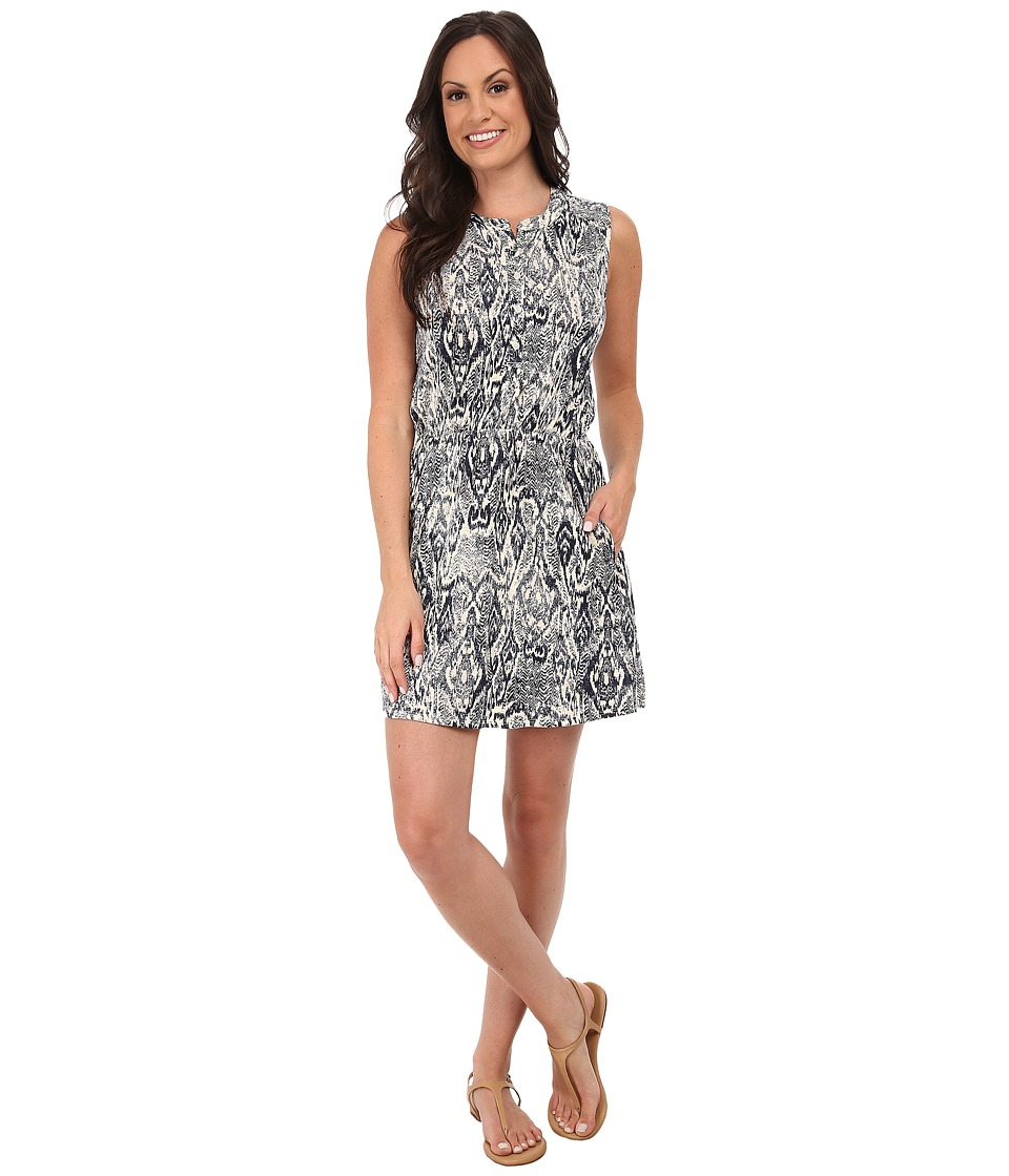 Lucky Brand Ikat Haze Dress (Navy Multi) Women