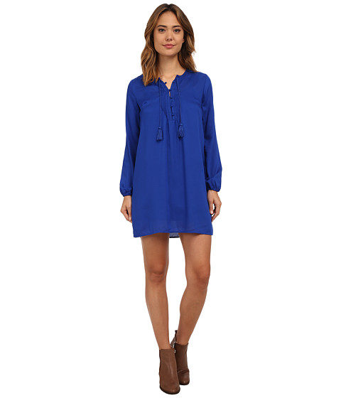 Lucky Brand - Pleated Shift Dress (Vibrant Blue) Women's Dress