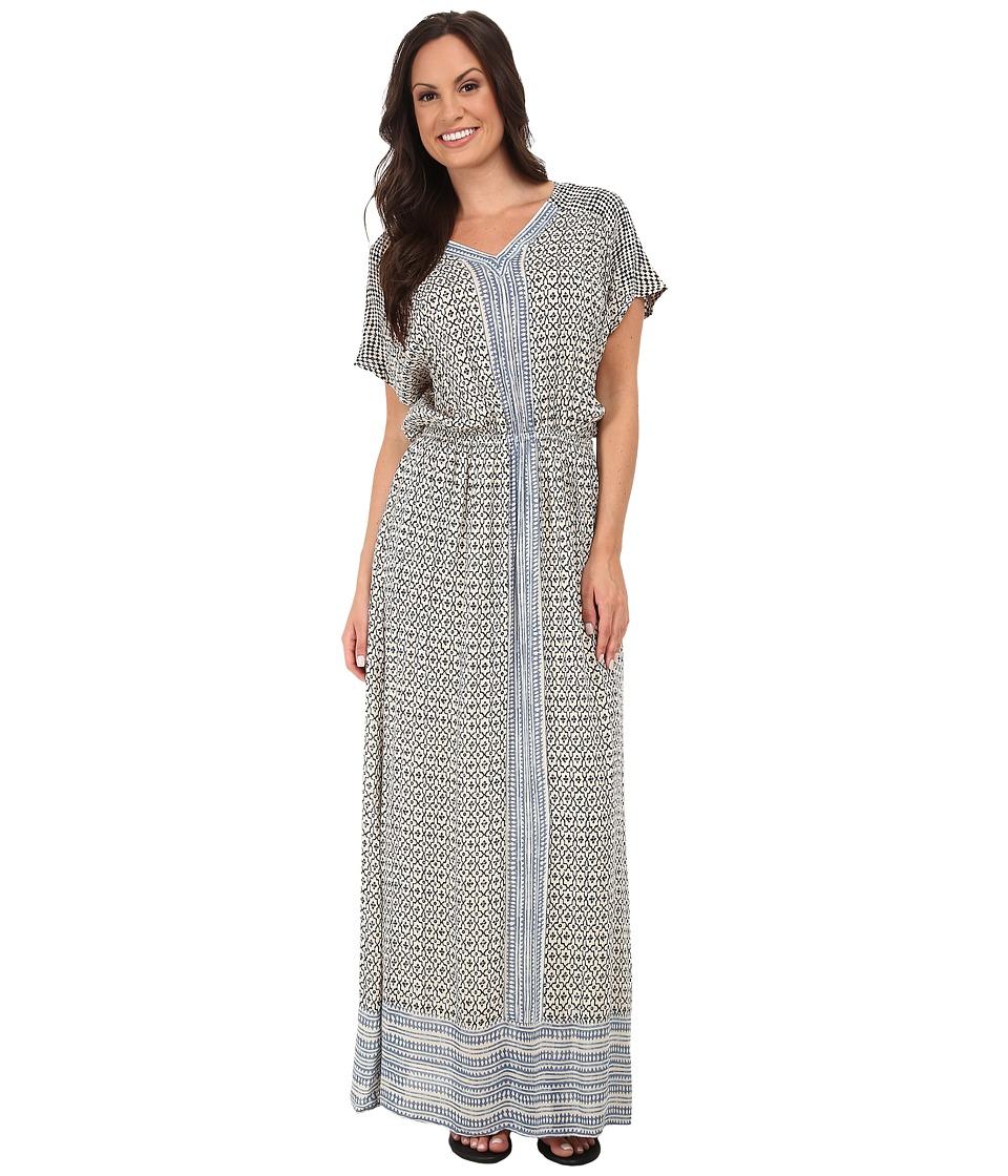 Lucky Brand - Turkish Scarf Maxi Dress (Blue Multi) Women's Dress