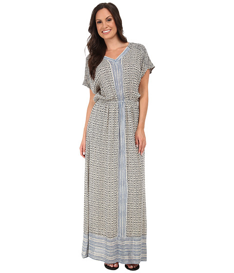 Lucky Brand - Turkish Scarf Maxi Dress (Blue Multi) Women's Dress