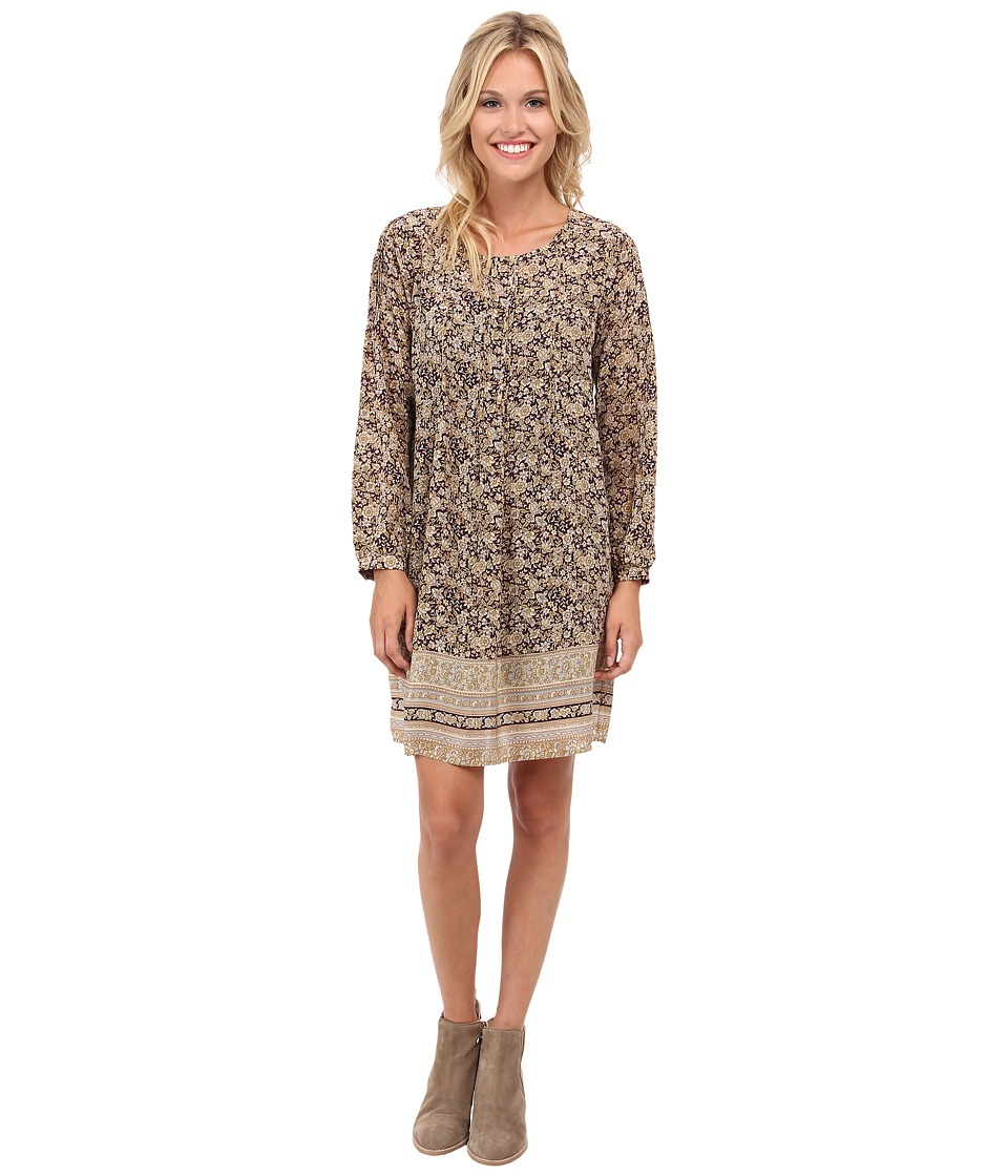 Lucky Brand - Floral Border Dress (Natural Multi) Women