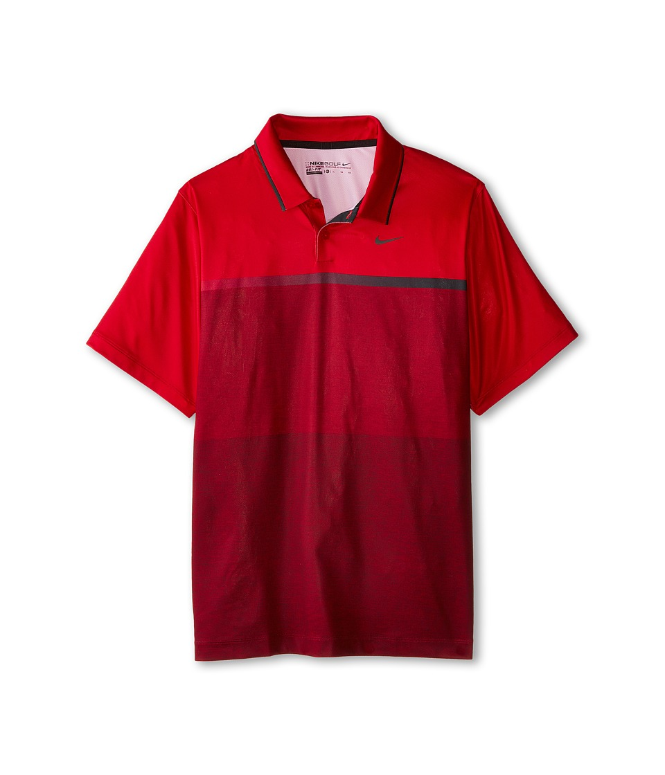 Nike Kids - TW Mobility Print Polo (Big Kids) (Gym Red/Anthracite) Boy's Clothing