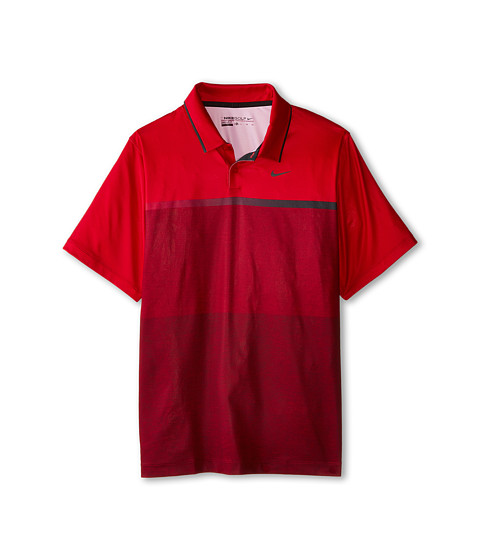 Nike Kids - TW Mobility Print Polo (Big Kids) (Gym Red/Anthracite) Boy