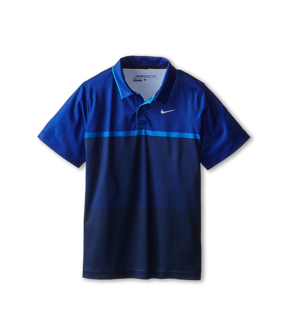 Nike Kids - TW Mobility Print Polo (Big Kids) (Deep Royal Blue/Wolf Grey) Boy's Clothing