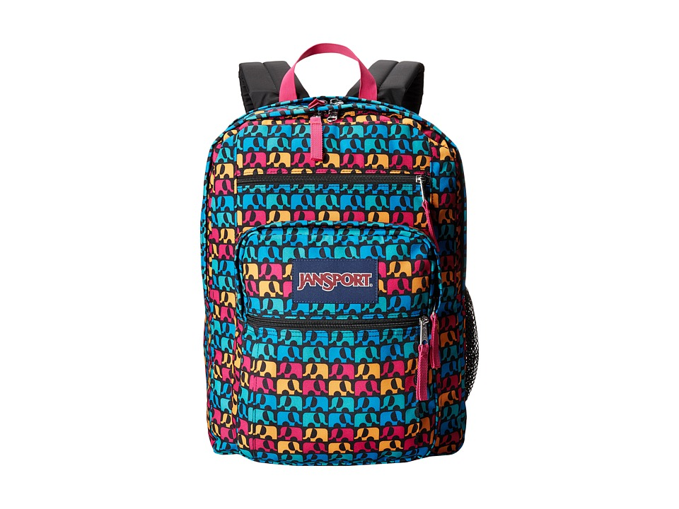 JanSport - Big Student (Black Ele Fancy) Backpack Bags