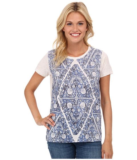 Lucky Brand - Triangle Motif Tee (Blue Multi) Women's T Shirt