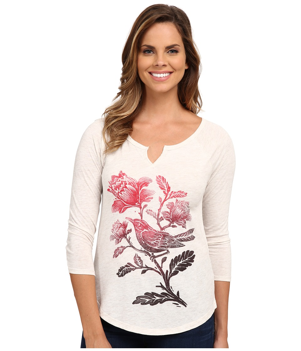 Lucky Brand - Ombre Bird Tee (Oatmeal) Women