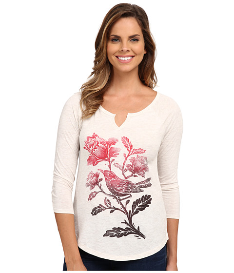 Lucky Brand - Ombre Bird Tee (Oatmeal) Women's T Shirt