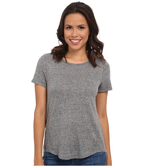 Lucky Brand - Linen Heather Tee (Light Heather Grey) Women's T Shirt