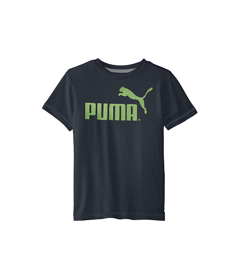Puma Kids - No.1 Logo Tee (Little Kids) (Charcoal) Boy