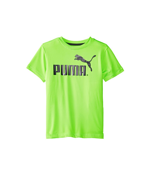 Puma Kids - No.1 Logo Tee (Little Kids) (Active Green) Boy