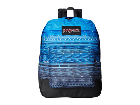 JanSport - Black Label SuperBreak (Blue Digi Stripe) Backpack Bags
