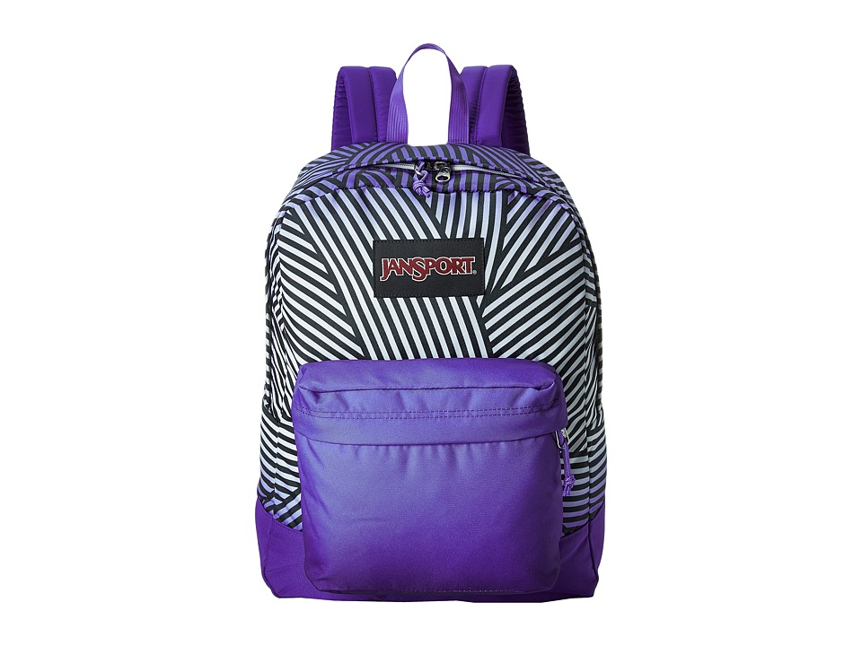 JanSport - Black Label SuperBreak (Violet Purple Geo) Backpack Bags