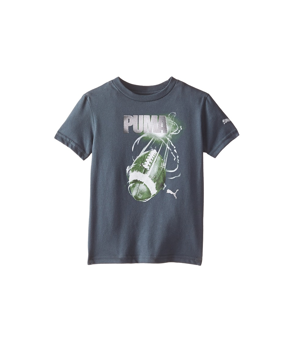 Puma Kids - Football Tee (Little Kids) (Charcoal) Boy