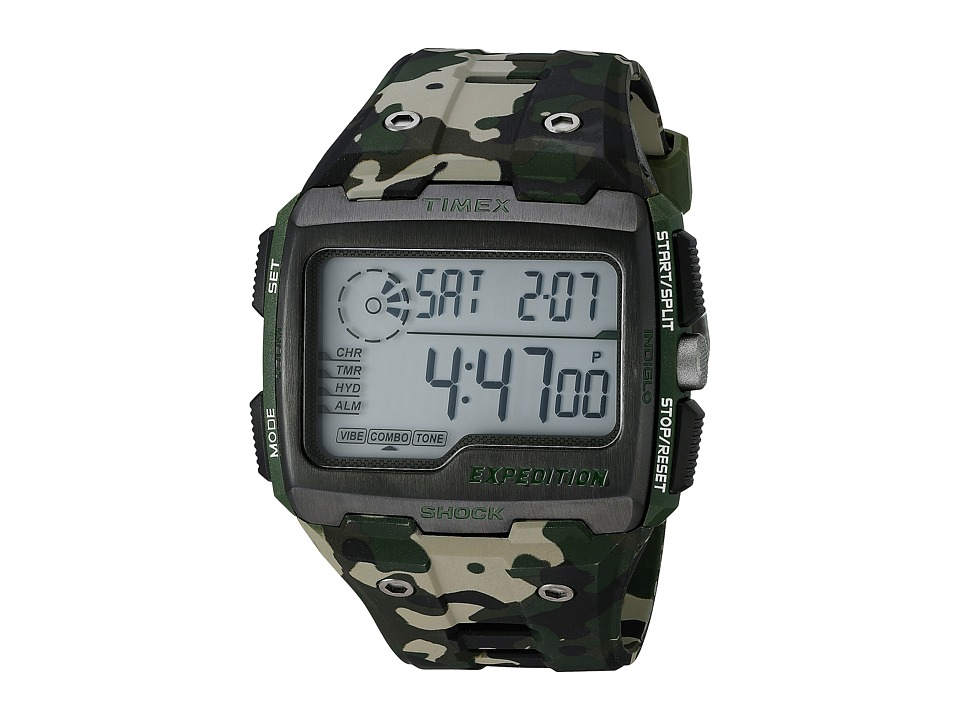 Timex - Expedition Grid Shock (Camo/Green) Watches