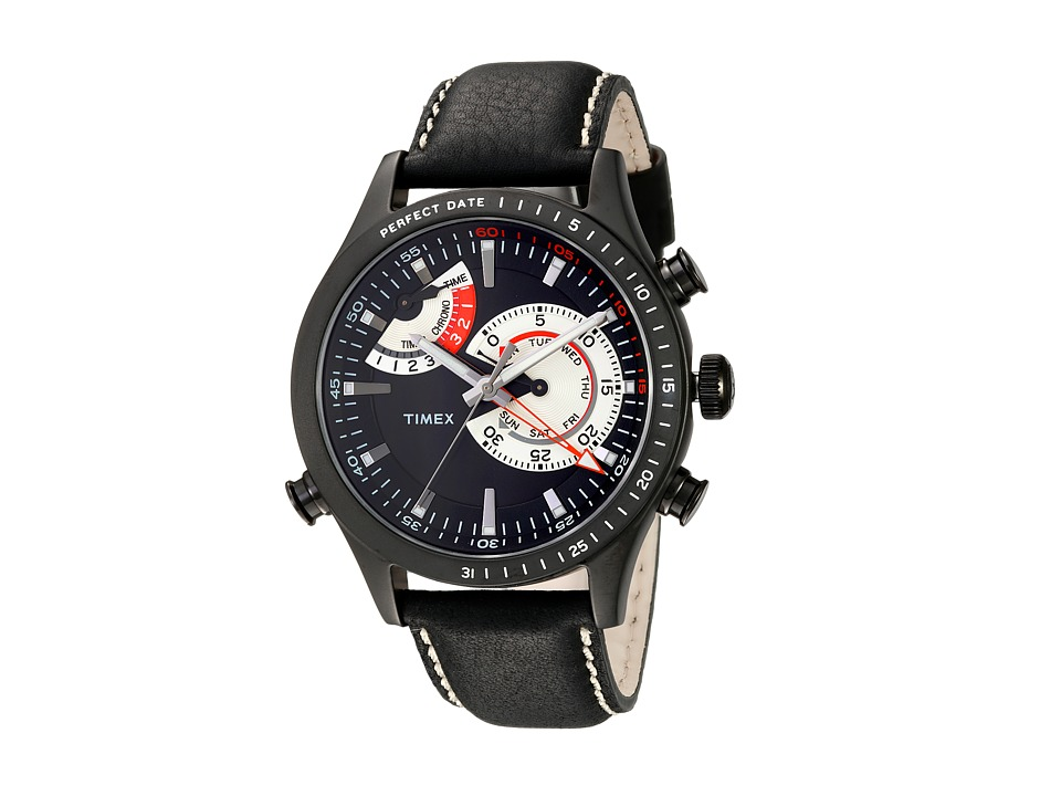 Timex - Intelligent Quartz Chrono Timer (Black) Chronograph Watches