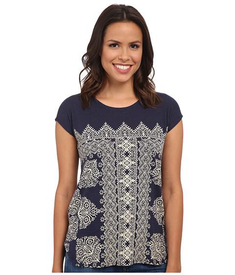 Lucky Brand - Sari Scarf Tee (American Navy) Women's T Shirt